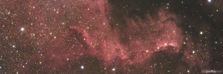 NGC7000 Nord America Nebula - Blue Journey