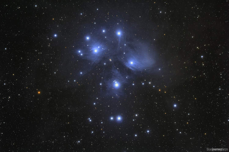 M45 Pleiadi telescopio astrofotografia