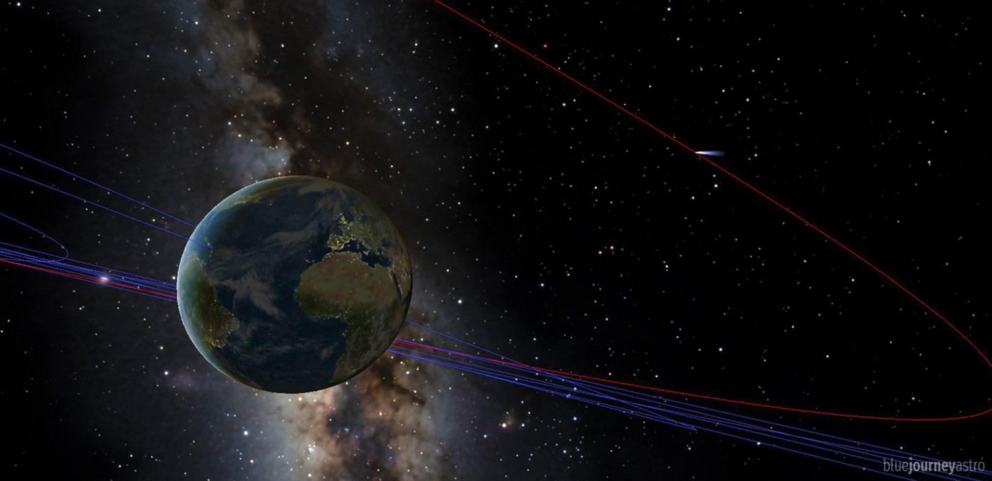 45p comet near earth