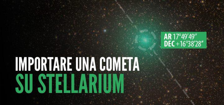 Blue Journey Astrophotography - Importare una cometa su Stellarium