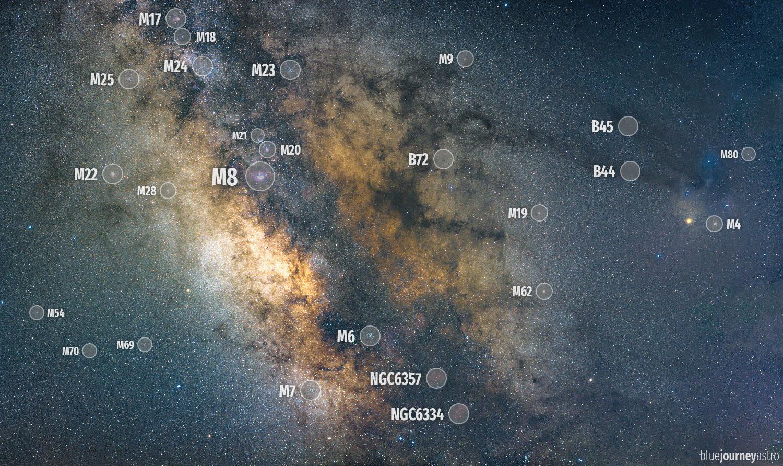 via lattea centro galattico antares nebulosa costellazioni