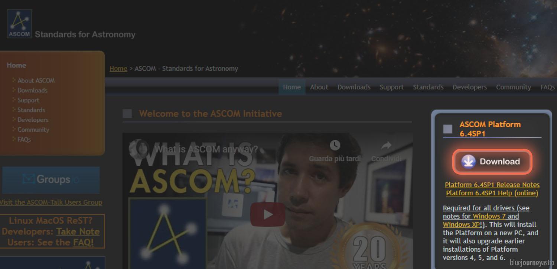 ASCOM Pulsante download guida installazione