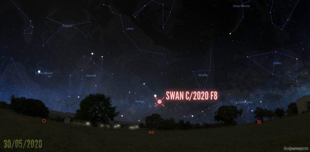 Coordinate Cometa C/2020 F8 SWAN