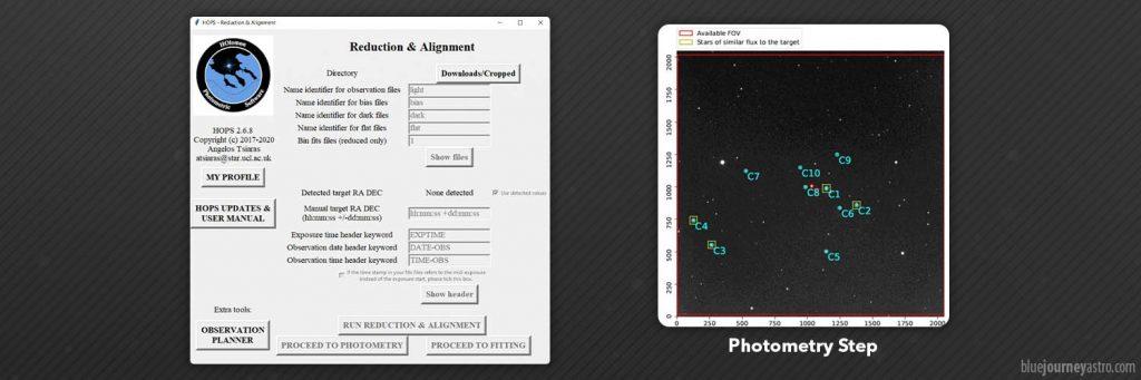 Fotometria di Esopianeti con HOPS Holomon Photometric Software